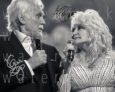 Kenny Rogers Dolly Parton signed 8X10 photo picture poster autograph RP