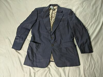 Paul Stuart Men's Wool Two-Piece Suit AB3 Navy Blue Size 41S 35W