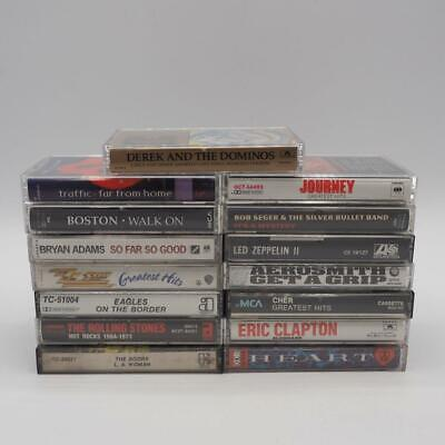 Vintage Lot of 15 1970's 1980's Rock N' Roll Music Cassette Tape Collection