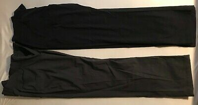 TWO Eddie Bauer Mens Travex Pants - 32x30 Slacks Workwear Hiking - Black & Gray