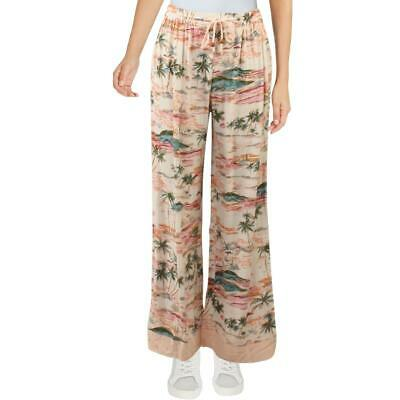 Intimately Free People Womens Printed Wide-Leg Drawstring Lounge Pants BHFO 7495