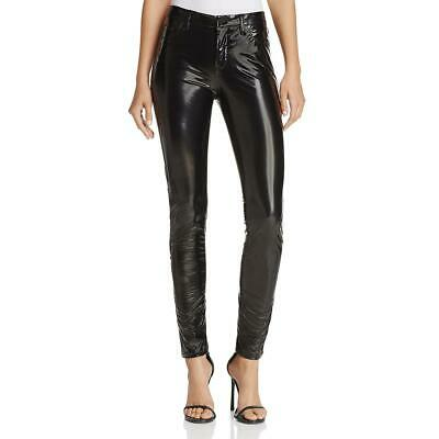 Blank NYC Womens Faux Leather High Rise Night Out Skinny Pants BHFO 6183