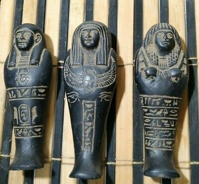 3 Rare Ancient Egyptian  Ushabti 1650-1560 Bc
