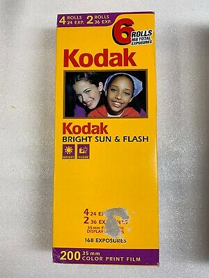6 Rolls Kodak 200 Color Print Film 35mm 24 EXP. & 36 EXP. NEW SEALED 09/2003