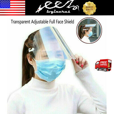 SAFETY FACE SHIELD With CLEAR FLIP-UP VISOR Garden Industry Dental Medical US