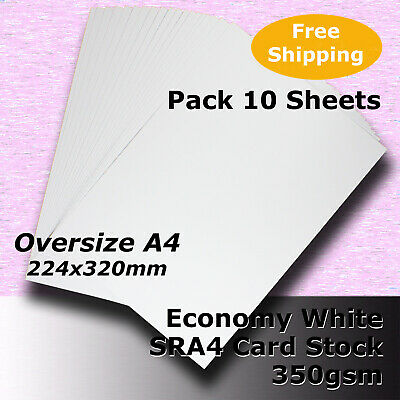 15 Sheets WHITE SRA4 Size 350gsm Economy Card Stock General Purpose #H5609 #LLHH