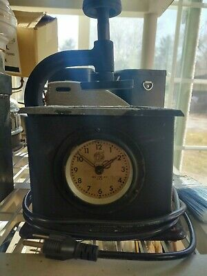 Antique Ajax Time Stamp Time Recorder Clock with Key