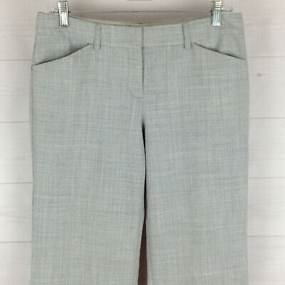 Express Editor womens size 6L stretch gray flat front flare dress career pants