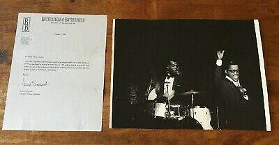 RARE 10x14 Unpublished B&W Proof Photo PERSONALLY OWNED by Sammy Davis Jr. COA 5