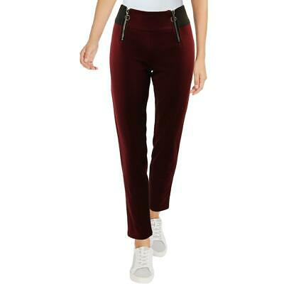 XOXO Womens Red Pull On High Rise Legging Skinny Pants S BHFO 3433