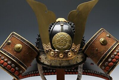 Japanese Wearable Samurai Helmet -Beautiful Vintage Condition Product-