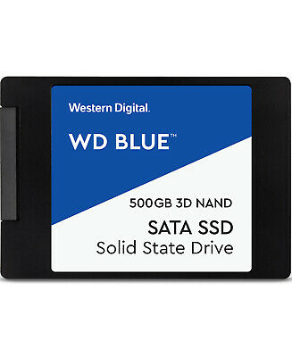 "Western Digital WD Blue 2.5"" SSD 500GB Laptop Internal Solid State Drive 550MB/s"