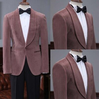 Red-Brown Men's Suits Shawl Lapel One Button Business Formal Party Dinner Custom