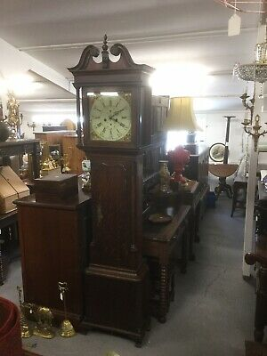 Antique Oak 8 Day Long Case Clock Sn-669b