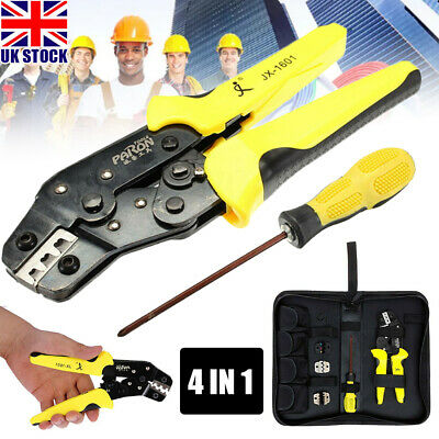 4in1 Portable Ratchet Crimper Plier Crimping Tool Cable Wire Electrical Terminal