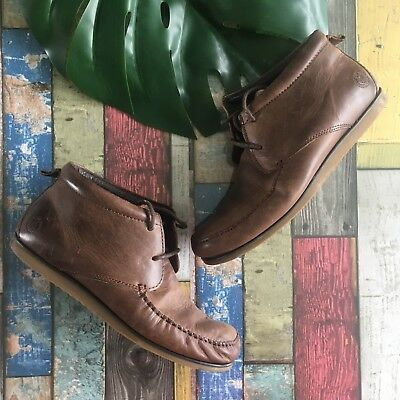 HENRI LLOYD Shoes SIze UK 6 EU 40 BROWN   Tan Leather Lace Up Boots Smart WORK