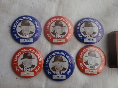 Barrier Industrial Council  Badges  1982
