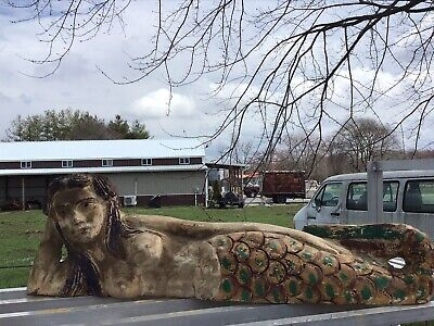 Large hand carved Mermaid Lying On Side