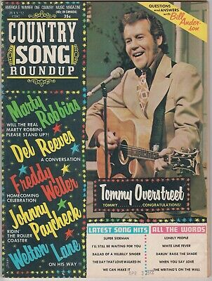 Country Song Roundup Magazine July 1972 Tommy Overstreet Marty Robbins Del Reeve