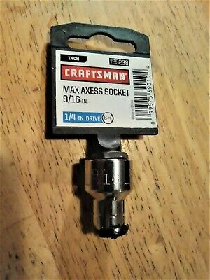 New! Varies Sizes Available.. Craftsman Max Axess Sockets 1//4 Inch Drive 6pt