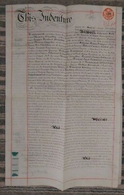 ** Antique 1895 Vellum Conveyance Indenture : Premises Milton Gravesend Kent **