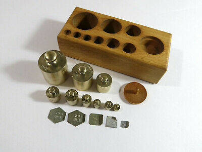 Antique Early 1900s MetricLaboratory/Apothecary Weight Set with Fractionals