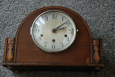 Vintage Haller Oak Cased 8 Day Mantle Clock With Westminster Chimes.spares