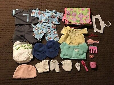 Vintage Cabbage Patch Kids Clothes Accessories Lot Diaper bag outfits hat brush
