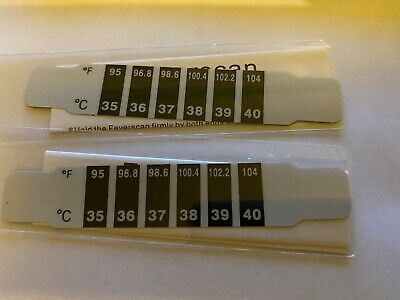 *Uk* Forehead Thermometer Strip Fever Baby Child Adult Test Temperature.