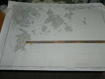 x5 LOT MAINE COAST  Nautical Chart Penobscot DEER ISLE Vinylhaven