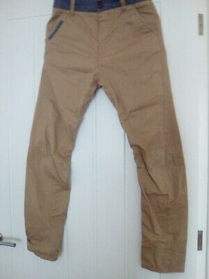 Boys Beige/Brown Casual Trousers From Next Age 12 Years  Height 152Cm Excellent
