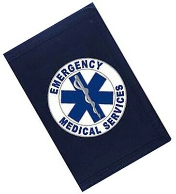 EMERGENCY MEDICAL SERVICE Blue EMS FLAG  3/' X  5/'  with a large STAR OF LIFE