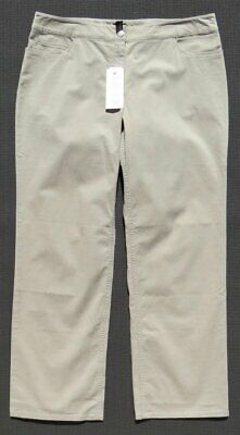 NEW NWT $158 EILEEN FISHER Stretch Sanded Cotton Twill Straight Jeans Pants US L