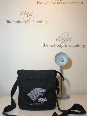 Game Of Thrones Winter Is Coming Stark Grey Shoulder Bag! New! Only £29,90!!!