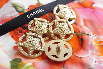 100% CHANEL Buttons LOT of 9 size  25 mm 1 inch  Logo CC 💗💗💗💗Gold Stars