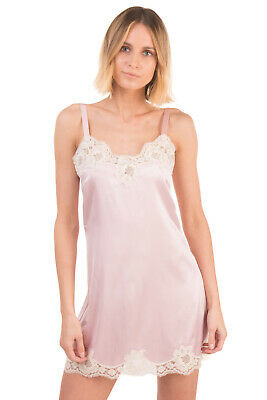 RRP€500 DOLCE & GABBANA Chemise Size 2 / M Silk Blend Lace Inserts Made in Italy