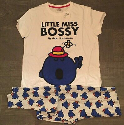 ladies mr men little miss bossy top store pyjamas official licensed product