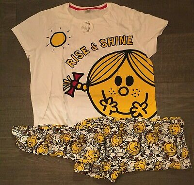 ladies mr men little miss sunshine rise and shine top store pyjamas official