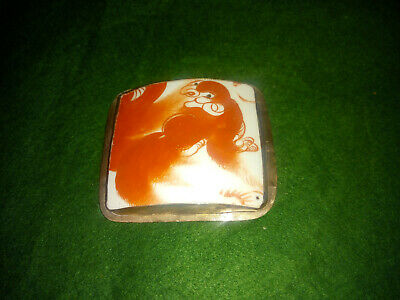 Vintage chinese Porcelain Shard trinket box - lid only