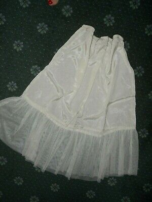 VINTAGE HALF SLIP with ALL ROUND gathering...beautiful materials   SIZE 12