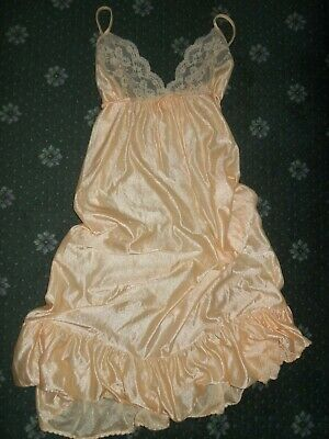 Novita....apricot With Lace And Deep Frill.......size 10