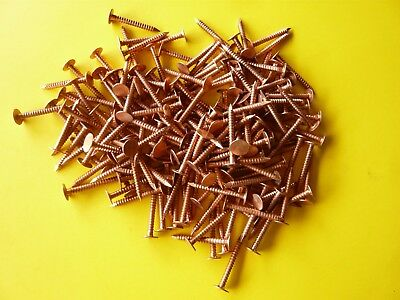 "1-1/4"" Annular Ring Shank Solid Copper Roofing Nail (11 Gauge 100 Pcs)"