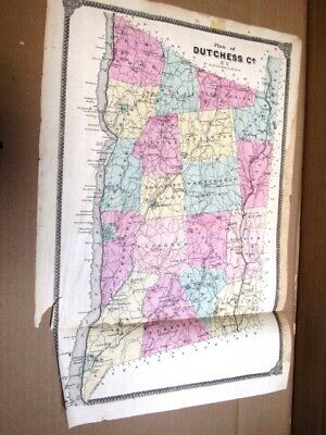 1867 Onion Skin Map Of Dutchess County Ny Beers Atlas