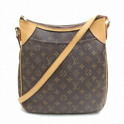 Authentic Louis Vuitton Shoulder Bag Odeon MM M56389 Browns Monogram 401198