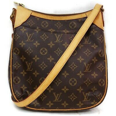 Authentic Louis Vuitton Shoulder Bag M56390 Odeon PM Browns Monogram 401199