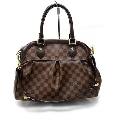 Authentic Louis Vuitton Hand Bag N51997 Trevi PM  Browns Damier 401187