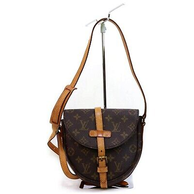 Authentic Louis Vuitton Shoulder Bag Chantilly PM M40646 Browns Monogram 401211