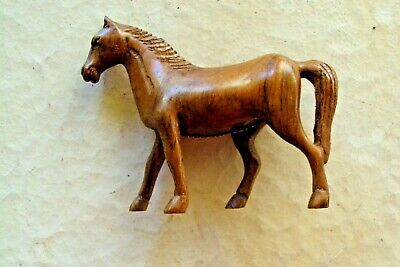 """Vintage """"William Penn"""" Hand Carved Wood Mystery Horse"""