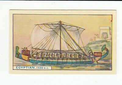 Vintage 1940 Trade Card ANCIENT EGYPT Ship c. 1500 B.C.