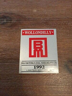 Wollondilly Bulk Materials 1992 Limited Edition 10 Mining Sticker